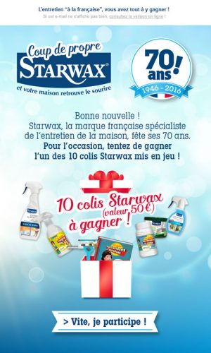 Jeu concours Starwax